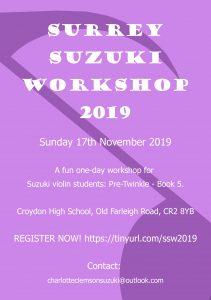 Surrey Suzuki Workshop @ South Croydon | England | United Kingdom